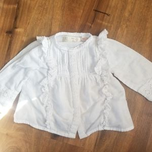 Zara baby girl white blouse